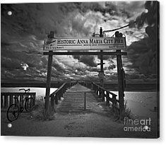 Historic Anna Maria City Pier 9177436 Acrylic Print by Rolf Bertram