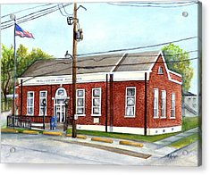 Historic District Post Office Acrylic Print by Elaine Hodges