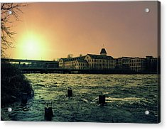 Acrylic Print featuring the photograph Historic Fox River Mills by Joel Witmeyer
