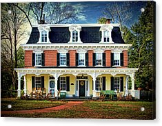 Historic Isaac Stover House  Acrylic Print by Carolyn Derstine