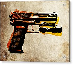 Hk 45 Pistol Acrylic Print by Michael Tompsett