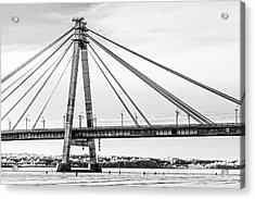 Hockey Under The Bridge Acrylic Print by Ant Rozetsky