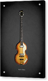 Hofner Violin Bass 62 Acrylic Print by Mark Rogan