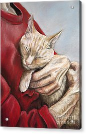 Hold Me Tight Acrylic Print by Charlotte Yealey