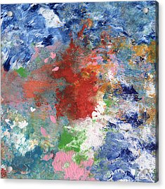 Holding On- Abstract Art By Linda Woods Acrylic Print by Linda Woods