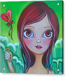 Holding The Key Acrylic Print by Jaz Higgins