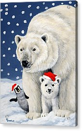 Holiday Greetings Acrylic Print by Richard De Wolfe