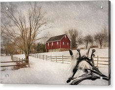 Holiday Ride Acrylic Print by Lori Deiter