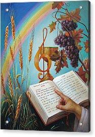 Holy Bible - The Gospel According To John Acrylic Print by Svitozar Nenyuk