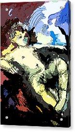 Holy Child Acrylic Print by Mindy Newman