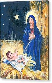 Holy Christmas No. 2 Acrylic Print by Elisabeta Hermann