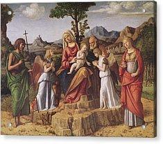 Holy Conversation Acrylic Print by Giovanni Battista Cima da Conegliano