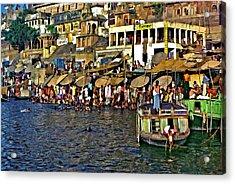 Holy Ganges Acrylic Print by Steve Harrington
