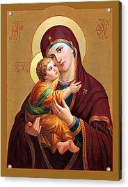 Holy Mother Of God - Blessed Virgin Mary Acrylic Print by Svitozar Nenyuk