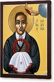 Holy New Martyr Padre Miguel Pro 119 Acrylic Print by William Hart McNichols