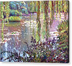 Homage To Monet Acrylic Print by David Lloyd Glover