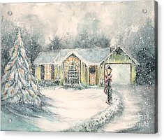 Home For Christmas Acrylic Print by Janine Riley