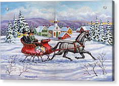 Home For Christmas Acrylic Print by Richard De Wolfe