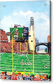 Home Of The Pats Acrylic Print by Jack Skinner