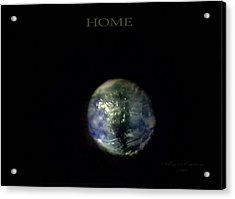 Home Acrylic Print by Phillip H George