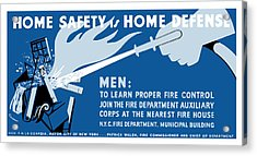 Home Safety Is Home Defense Acrylic Print by War Is Hell Store