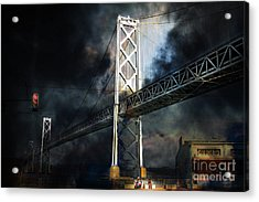 Homeless By The Bay . 7d7748 Acrylic Print by Wingsdomain Art and Photography