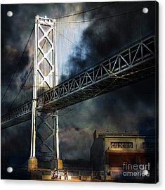 Homeless By The Bay 7d7748 Square Acrylic Print by Wingsdomain Art and Photography