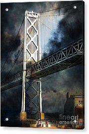 Homeless By The Bay 7d7748 Vertical Acrylic Print by Wingsdomain Art and Photography