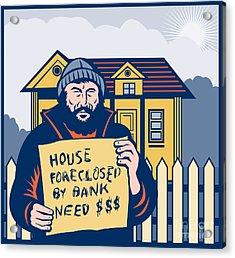 Homeless Man Acrylic Print by Aloysius Patrimonio