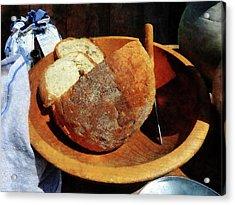 Homemade Bread Acrylic Print by Susan Savad