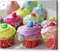 Homemade Cupcakes Acrylic Print by Richard Newstead