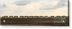 Homes On The Prairie Acrylic Print by Steve Augustin