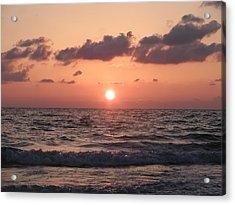 Honey Moon Island Sunset Acrylic Print by Bill Cannon