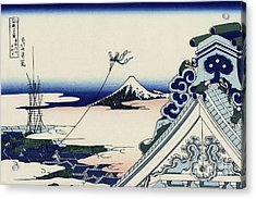 Honganji Temple At Asakusa In The Eastern Capital Acrylic Print by Katsushika Hokusai