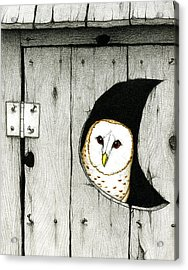 Hoo Tooted Acrylic Print by Don McMahon