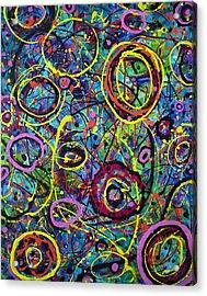 Hoopla Acrylic Print by Lynda Lehmann