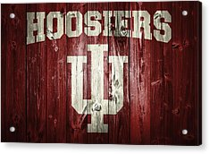 Hoosiers Barn Door Acrylic Print by Dan Sproul