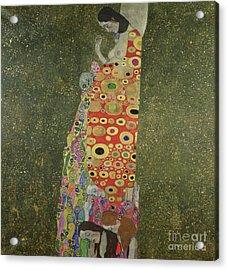 Hope II Acrylic Print by Gustav Klimt