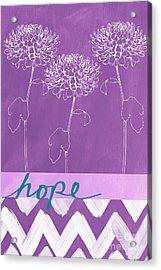 Hope Acrylic Print by Linda Woods