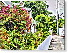 Hopetown Gardens Acrylic Print by Anthony C Chen