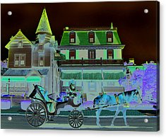 Horse And Buggy Acrylic Print by Paul Barlo