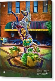 Horse Of Another Color Acrylic Print by Jon Burch Photography