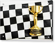Horse Races Trophy. Melbourne Cup Win Acrylic Print by Jorgo Photography - Wall Art Gallery