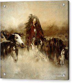 Horse Spirit Guides Acrylic Print by Shanina Conway