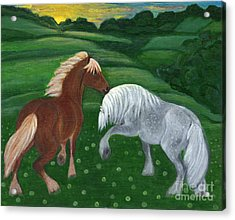 Horses Of The Rising Sun Acrylic Print by Anna Folkartanna Maciejewska-Dyba
