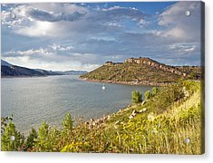 Horsetooth Dam Co Acrylic Print by James Steele