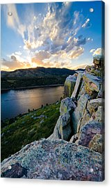 Horsetooth Reservoir, Fort Collins, Colorado Acrylic Print by Preston Broadfoot