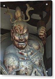 Horyu-ji Temple Gate Guardian - Nara Japan Acrylic Print by Daniel Hagerman