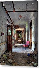 Hospital Hallway Acrylic Print by Murray Bloom