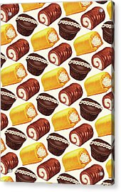 Hostess Cakes Pattern Acrylic Print by Kelly Gilleran